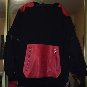 Other - New black sweater with red design